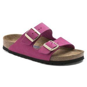 Birkenstock Shoes - BIRKENSTOCK Arizona Soft Footbed Leather Slides